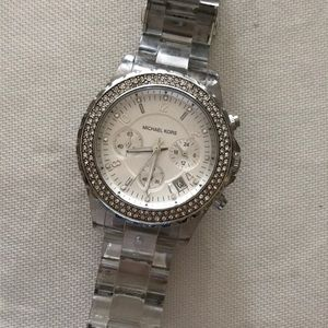 Michael kors rhinestone watch